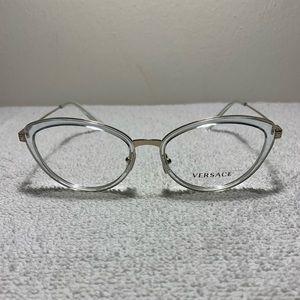 6d53ebeb393e Versace 1244 1405 Clear Cats Eye Eyeglasses